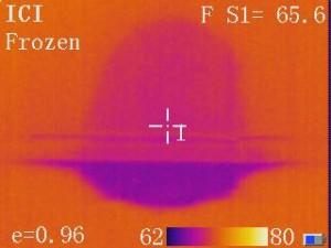 infrared image of shower leak