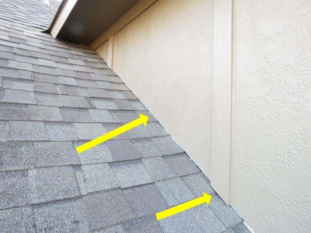 Siding and trim not raised above roof surface